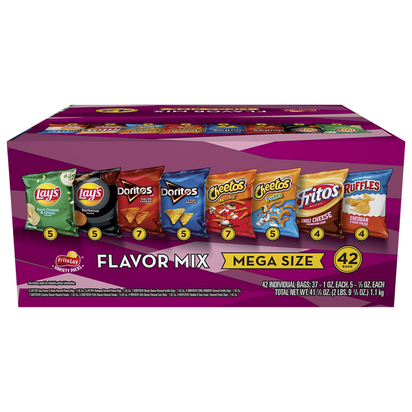 Lay's Flavor Mix Variety Pack Mega Size - 42 ct