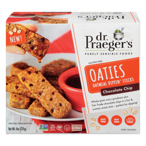 Dr. Praeger's Oaties Oatmeal Dippin' Sticks Chocolate Chip Frozen