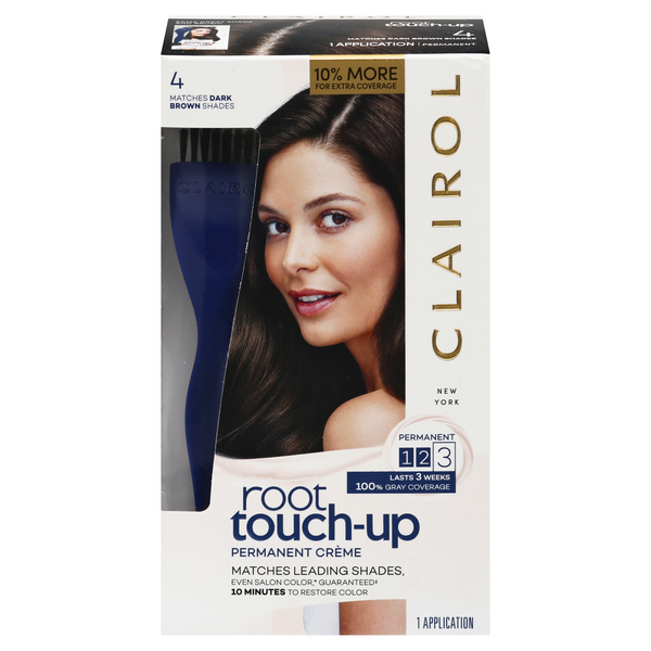 Clairol Root Touch-Up Permanent Creme Dark Brown 4