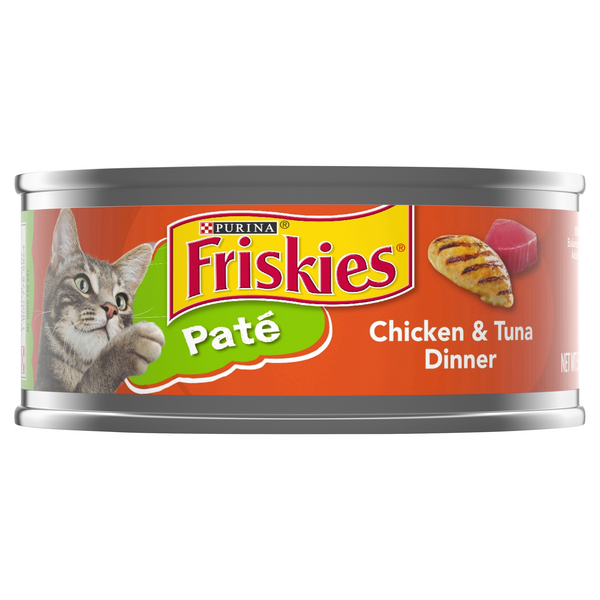 Friskies Pate Wet Cat Food Chicken & Tuna Dinner