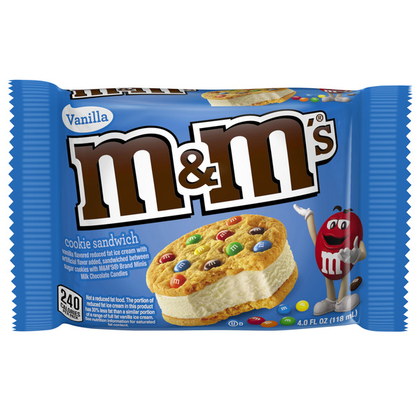 M&M's Vanilla Ice Cream Cookie Sandwich Reduced Fat