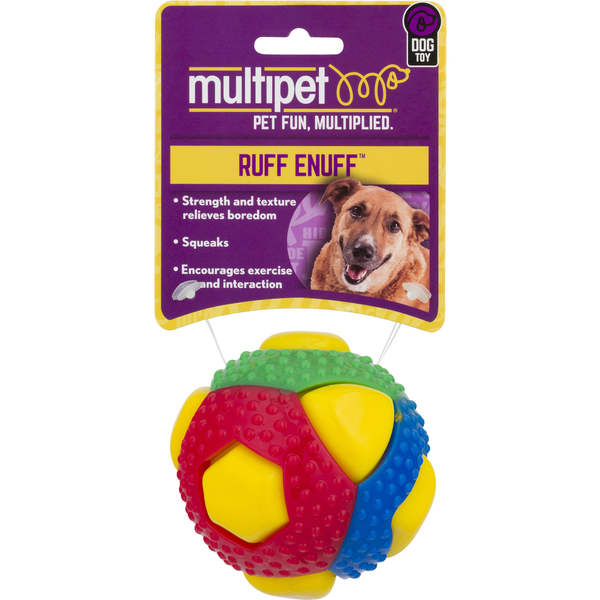 Multipet Ruff Enuff Dog Toy Squeaker Ball Theo