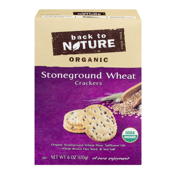 Back to Nature Crackers Stoneground Wheat Organic