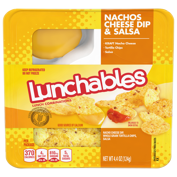 Lunchables Lunch Combinations Nachos Cheese Dip & Salsa