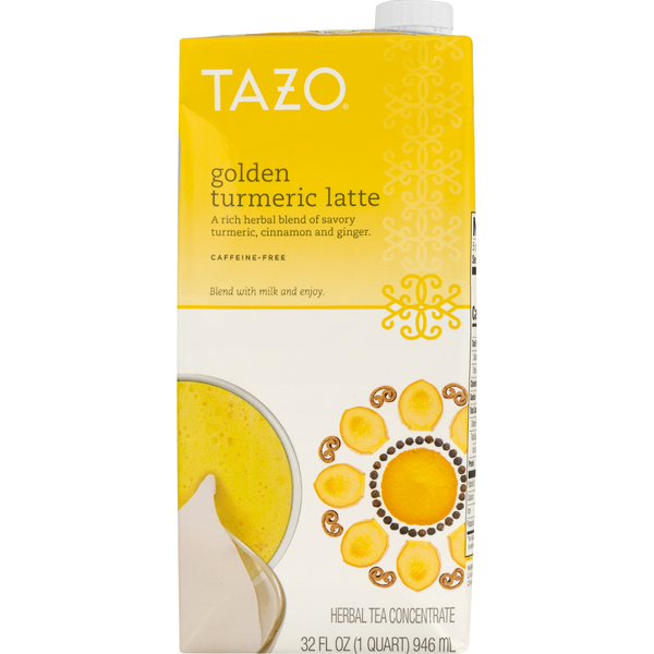 Tazo Herbal Tea Concentrate Golden Turmeric Latte Caffeine-Free