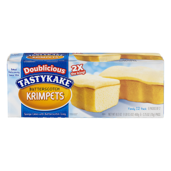 Tastykake Doublicious Krimpets Butterscotch Twice Iced 2 ea - 6 ct