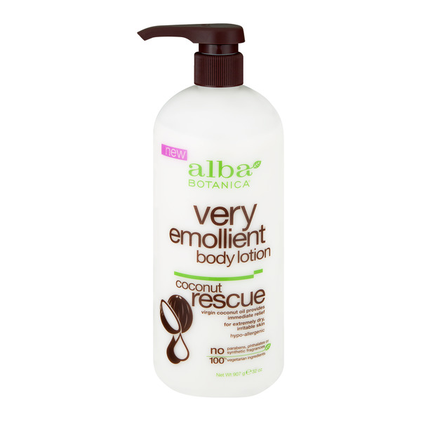 Alba Botanica Very Emollient Body Lotion Coconut Rescue