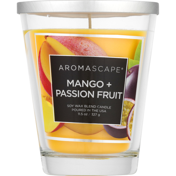 Aromascape Candle Soy Wax Blend Mango + Passion Fruit