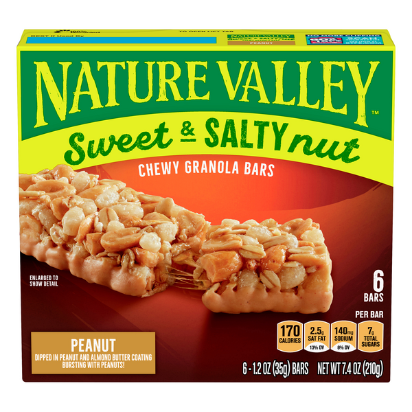 Nature Valley Sweet & Salty Nut Chewy Granola Bars Peanut - 6 ct