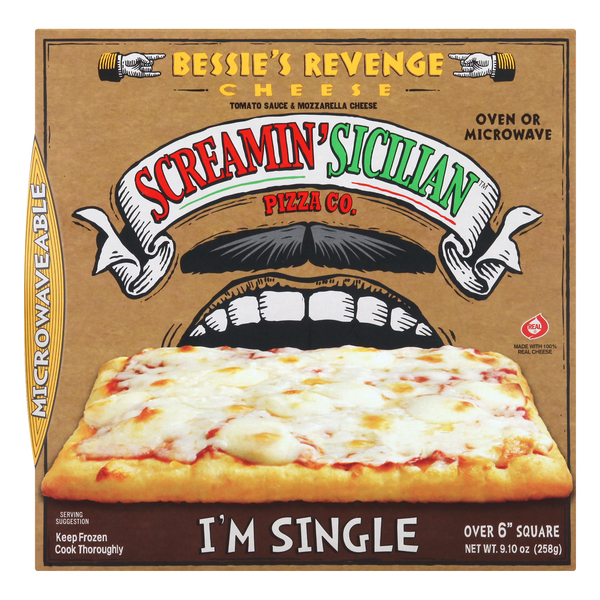 Screamin' Sicilian Pizza Co. Single Serve Pizza Bessie's Revenge Cheese