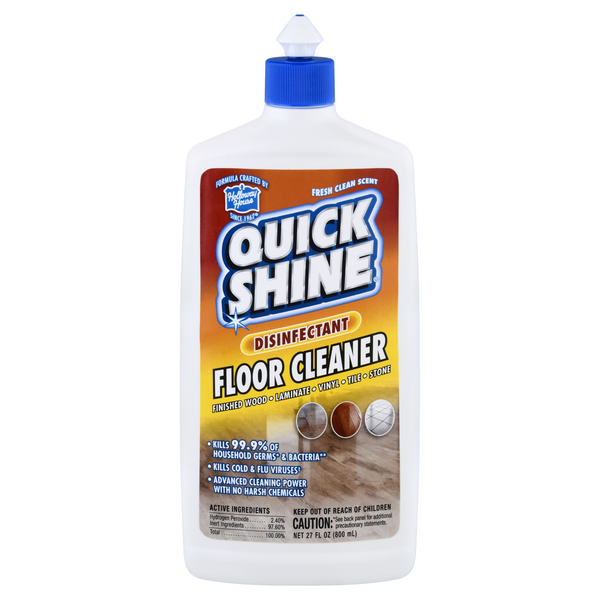 Quick Shine Floor Cleaner Disinfectant Fresh Clean Scent