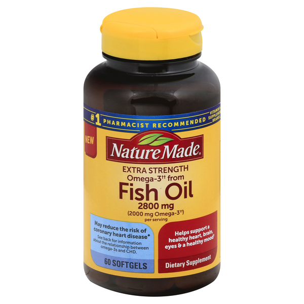 Nature Made Omega-3 Fish Oil 2800 mg Extra Strength Softgels