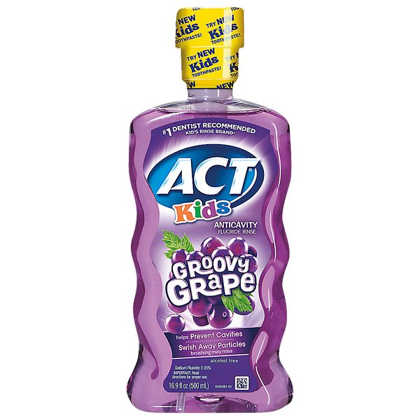 ACT Kids Anticavity Fluoride Rinse Groovy Grape