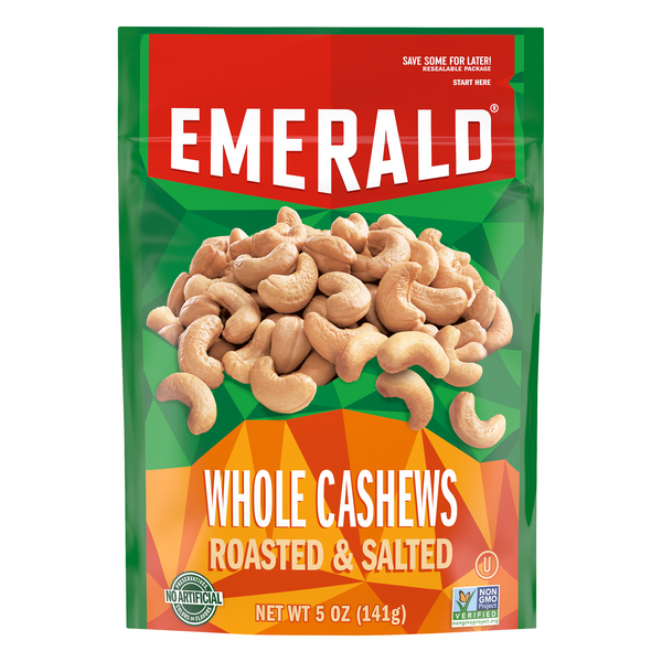 Emerald Whole Cashews Jumbo Roasted Salted