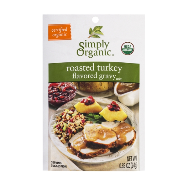 Simply Organic Gravy Mix Packet Roasted Turkey
