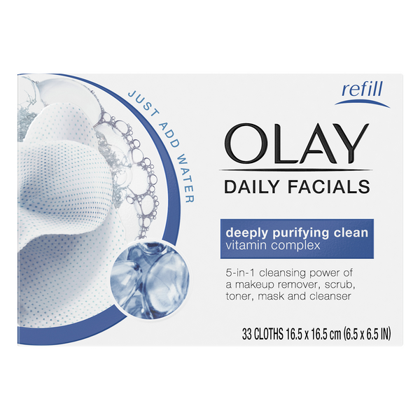 Olay Daily Facials 5-in-1 Water Activated Dry Cloths