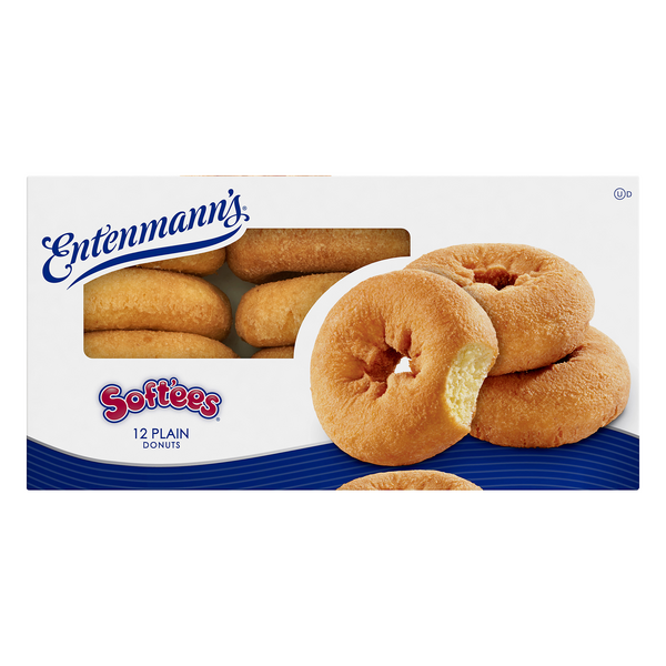 Entenmann's Soft'ees Donuts Plain - 12 ct