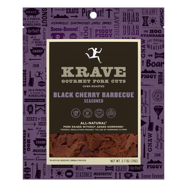 Krave Pork Jerky Black Cherry Barbecue All Natural