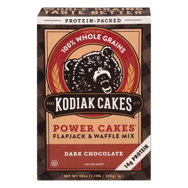Kodiak Cakes Power Cakes Flapjack & Waffle Mix Dark Chocolate