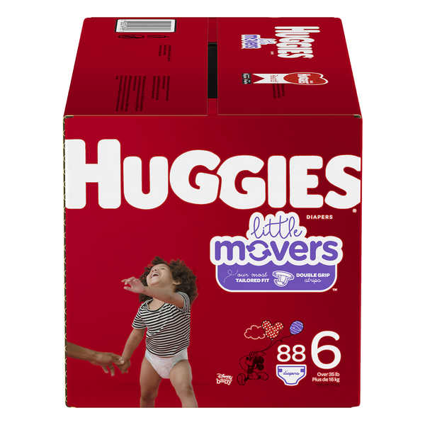 Huggies Little Movers Size 6 Diapers 35+ lbs