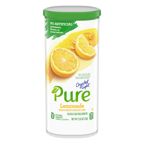 Crystal Light Pure Powered Drink Mix Lemonade - 5 ct