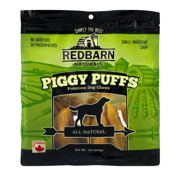Redbarn Naturals Piggy Puffs Premium Dog Chews All Natural