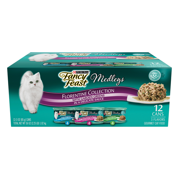 Fancy Feast Medleys Florentine Collection Wet Cat Food Variety Pack 12 ct