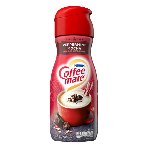 Nestle Coffee-mate Liquid Coffee Creamer Peppermint Mocha Refrigerated