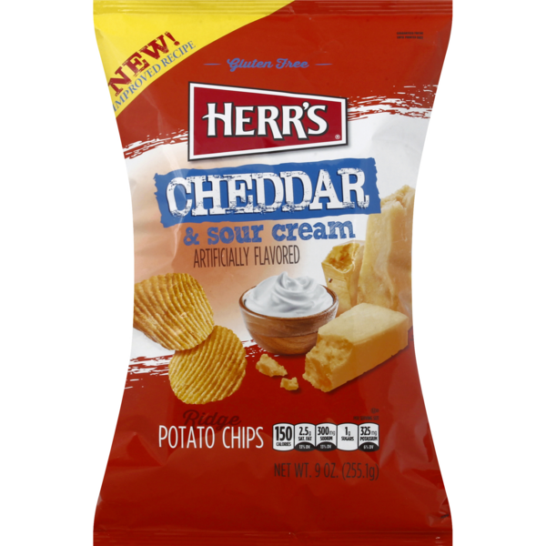 Herr's Ridge Potato Chips Cheddar & Sour Cream