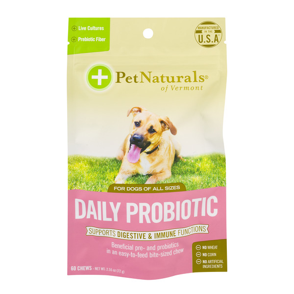 Pet Naturals Of Vermont Daily Probiotic Chews - 60 ct