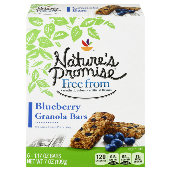 Nature's Promise Free from Granola Bars Blueberry - 6 ct