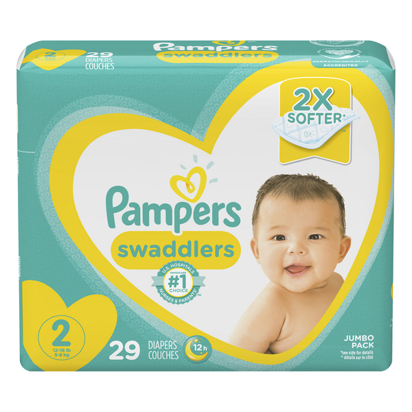 Pampers Swaddlers Size 2 Diapers 12-18 lbs