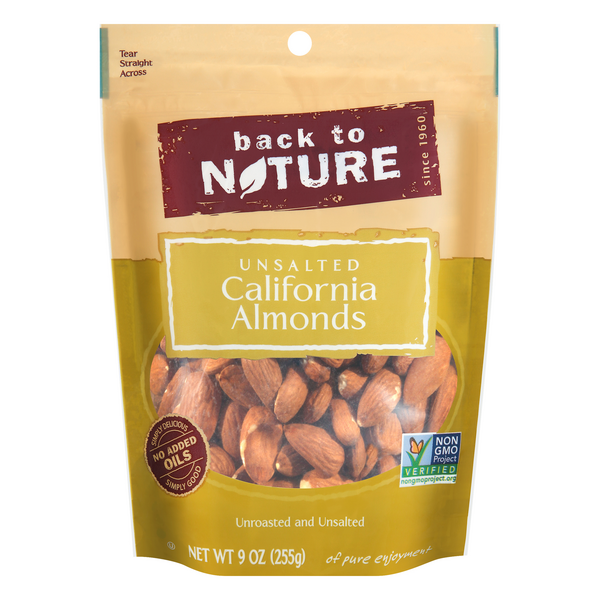 Back To Nature California Almonds Unroasted & Unsalted