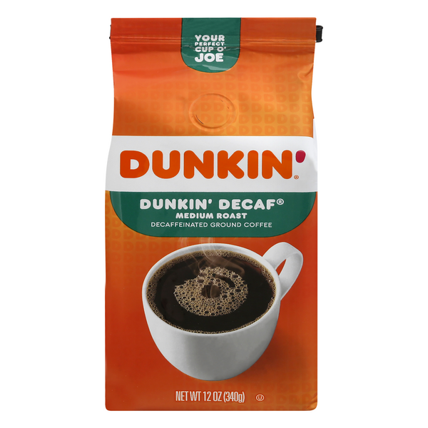 Dunkin' Donuts Original Medium Roast Coffee Decaffeinated (Ground)
