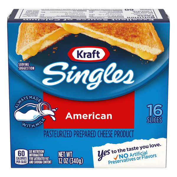 Kraft Singles American Slices - 16 ct