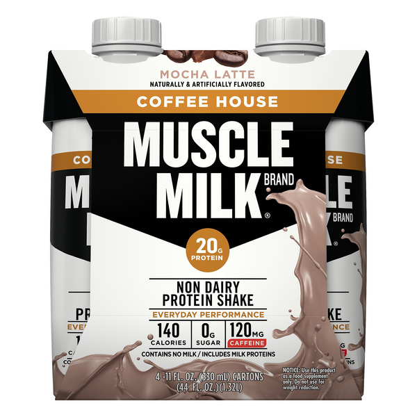 Muscle Milk Protein Shake Coffee House Mocha Latte - 4 pk