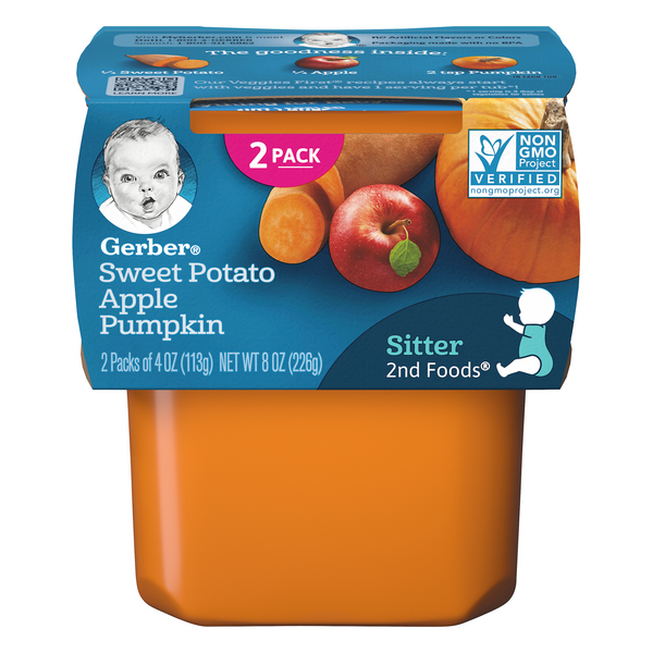 Gerber 2nd Baby Food Sweet Potato Apple & Pumpkin - 2 ct
