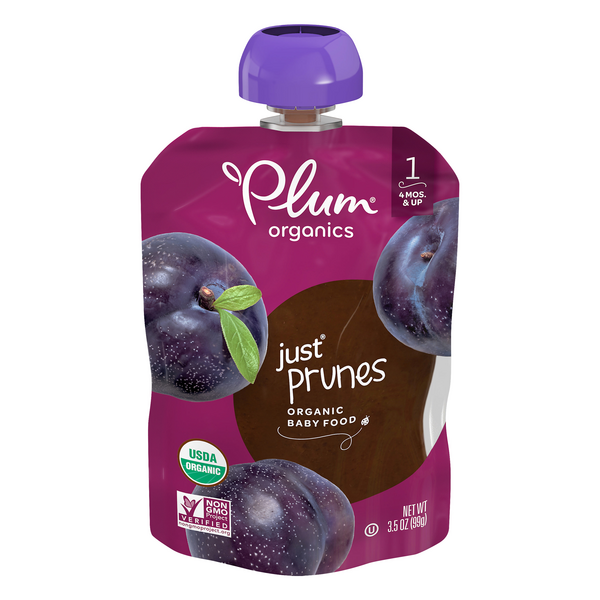 Plum Organics Stage 1 Baby Food Just Fruit Prunes