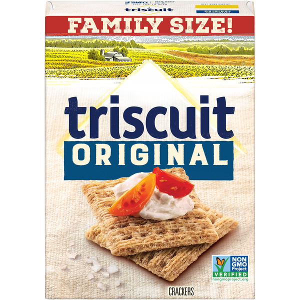 Nabisco Triscuit Baked Whole Grain Wheat Crackers Original Family Size
