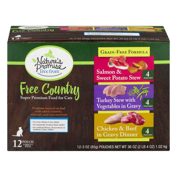 Nature's Promise Free from Free Country Wet Cat Food Variety 12 ct