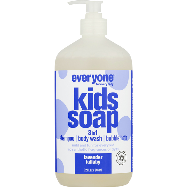 Everyone Kids Soap 3-in-1 Shampoo Body Wash Bubble Bath Lavender Lullaby