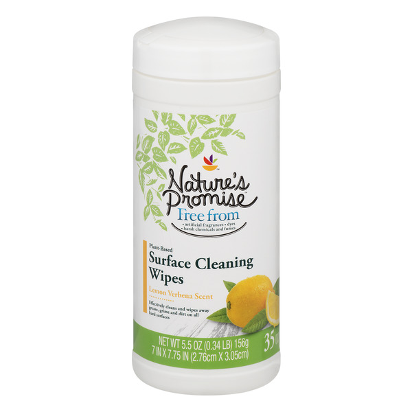 Nature's Promise Surface Cleaning Wipes Lemon Verbena Scent