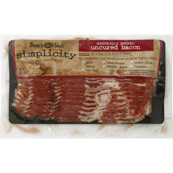 Boar's Head Simplicity Smoked Uncured Bacon Sliced All Natural