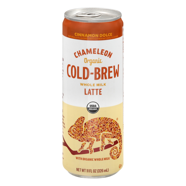 Chameleon Cold-Brew Whole Milk Latte Cinnamon Dolce Organic