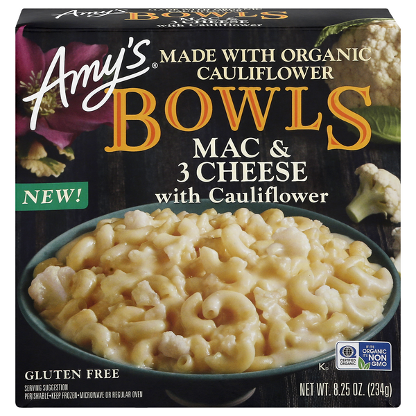 Amy's Bowls Mac & 3 Cheese with Cauliflower