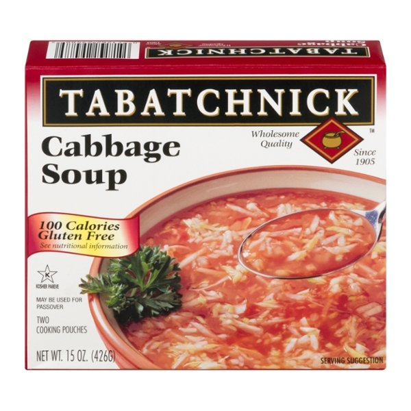 Tabatchnick Cabbage Soup - 2 pouches Frozen