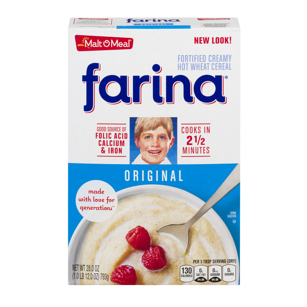 Farina Mills Farina Creamy Hot Wheat Cereal Original Enriched