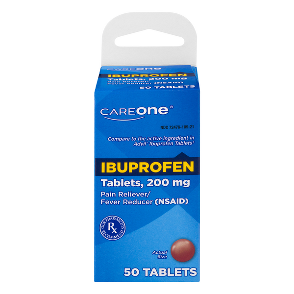 CareOne Ibuprofen Pain Relief 200 mg Tablets