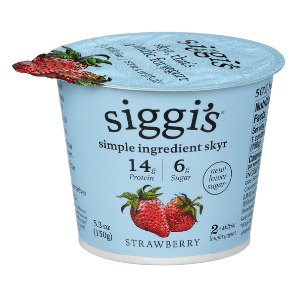 Siggi's Simple Ingredient Skyr Low Fat Yogurt Strawberry