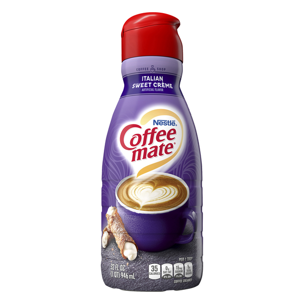 Nestle Coffee-mate Liquid Coffee Creamer Italian Sweet Creme Refrigerated